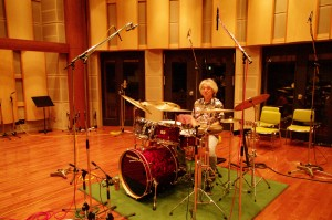 "drum solo recording scene  ""Everything for Drums"" Hiroshi Fukamizu"